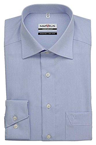 MARVELIS Comfort Fit Hemd extra langer Arm Chambray hellblau AL 69, L (42)