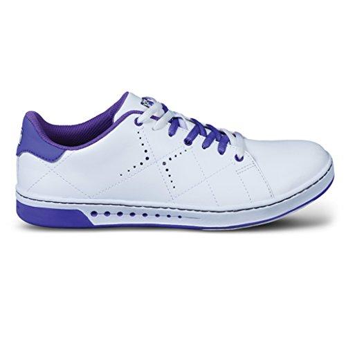 KR Damen Strikeforce Gem Bowling Schuhe Weiß/Violett, Damen, KRL062 070, weiß/violett, Größe 7 - Weiß Bowling-schuhe
