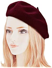 dressfan Boina Francesa para Mujeres Niñas otoño Invierno Boina Sombrero  Lana Calabaza Sombreros Ladie otoño Invierno aab1895607d