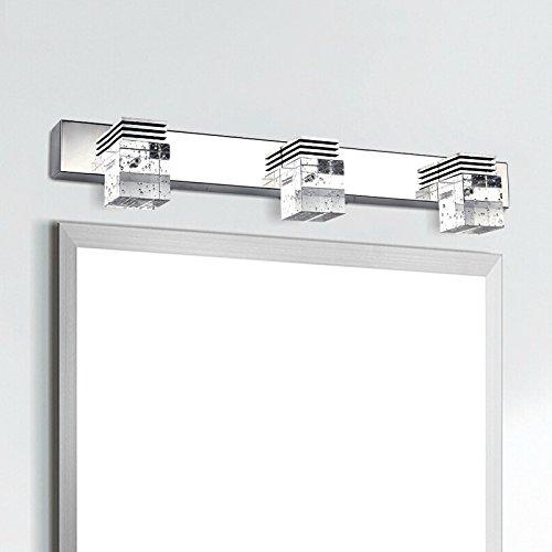 SJUN K9 Kristall Led Spiegel Lampe Bad Badezimmer Spiegel Beleuchtung Edelstahl Wandleuchten Spiegel Leuchten,Warmes Licht