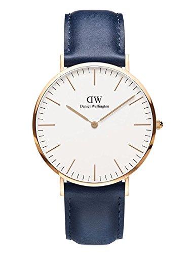 Daniel Wellington Reloj Analógico para Hombre de Cuarzo con Correa en Cuero DW00100121