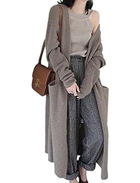Fasumava Mujeres Cardigan Sweaters De Punto Otoño Casual Diariamente Sólido Outwear