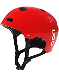 POC - Casco da ciclismo Crane, Unisex, Radhelm Crane, Rosso - bohrium red, M-L (55 - 58 cm)