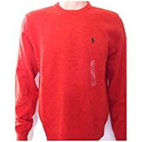 Ralph Lauren Polo da uomo in lana Crew felpa a collo alto media Jumper Arancione media