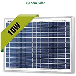 Loom Solar 10 Watt - 12 Volt Solar Panel