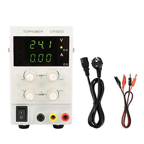Fuente de alimentación DC regulada, Skytoppower STP3005D Fuentes de alimentación de laboratorio DC regulada variable 0-30V 0-5A 110 / 220V Fuente de alimentación digital ajustable(110 / 220V)