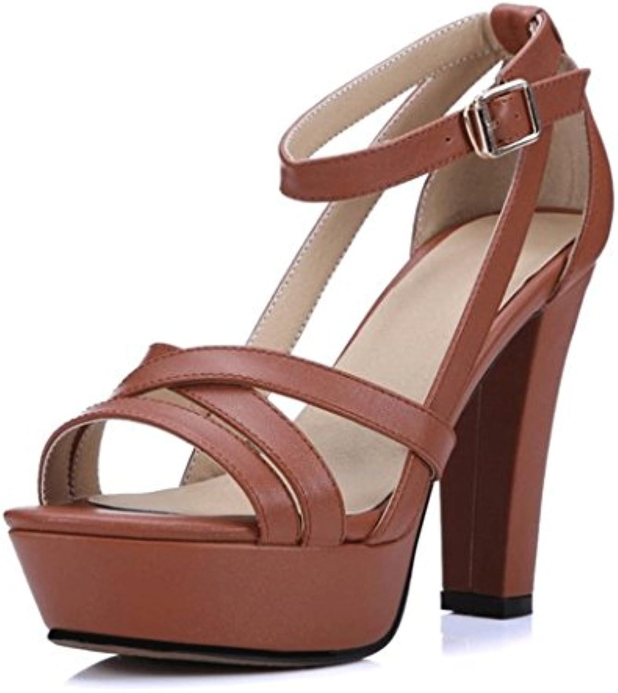 AWXJX Temporada de verano Chanclas Mujer Diamante artificial Zapato Abierto tacón alto fina con resistentes al desgaste luz antideslizante Golden 6 US/36 EU/3.5 UK 6 US/36 EU/3.5 UK Golden