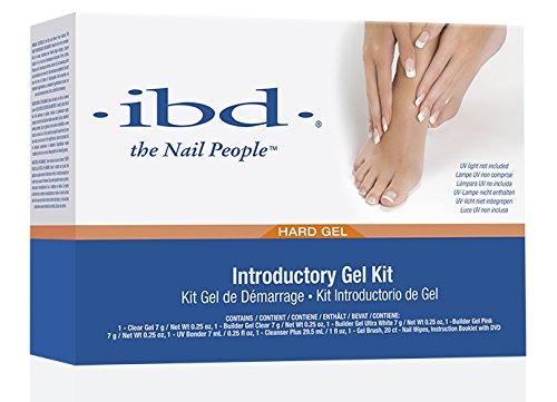 IBD UV Gel Nail Starter Kit weiß pink clear Haftvermittler Gel + DVD + Gel Pinsel (Unzen 1 Cleanser)