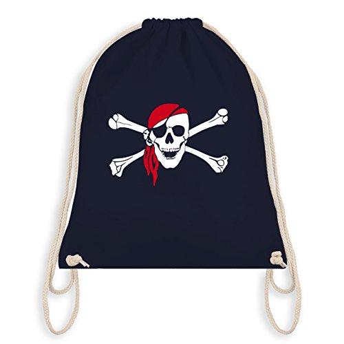 Shirtracer Piraten & Totenkopf - Totenkopf Pirat Kopftuch - Unisize - Navy Blau - WM110 - Turnbeutel...