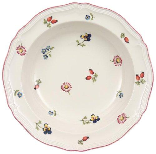 Villeroy & Boch Petite Fleur Assiette à salade, 20cm, Porcelaine Premium, Blanc/Multicolore