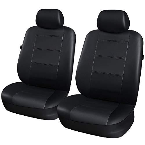 Cuoio Auto Coprisedili Anteriori 2 pezzi impermeabile antiscivolo lavabile Airbag compatibile per la maggior parte auto, SUV, V