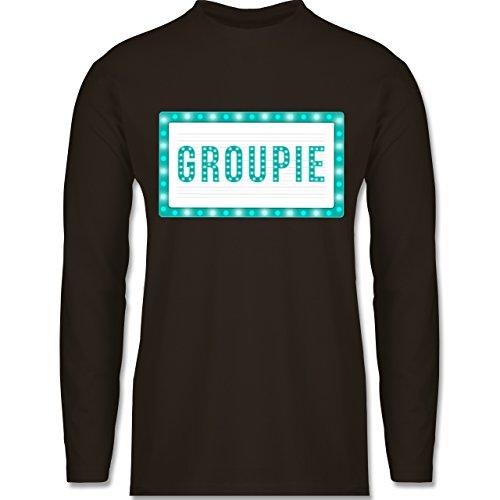 Rock'n'Roll - Groupie - Longsleeve / langärmeliges T-Shirt für Herren Braun