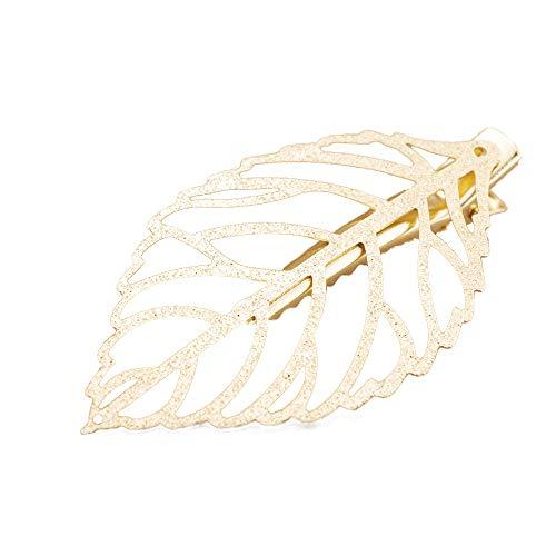 beautisun Damen Haarspange handgemachte Metall Blatt Haar Zubehör Hohl Alligator kreative Haarspange Wild einfache Haarspangen täglich tragen Party Hochzeit