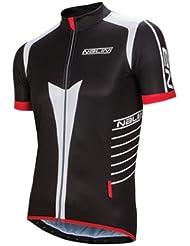 Nalini Pro Red Ti Camiseta de ciclismo (Negro, M)