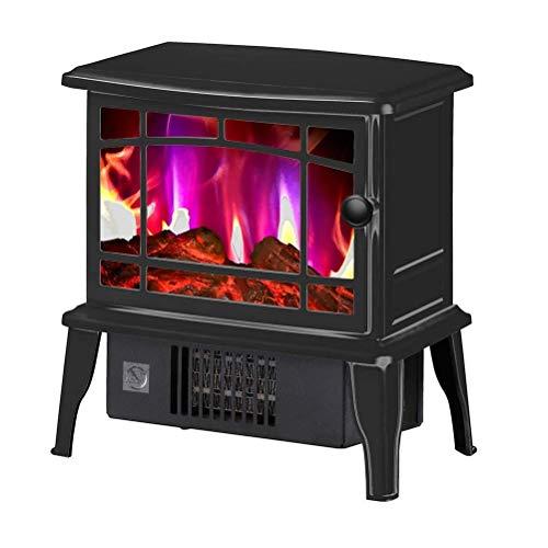 Mopoq Elektro-Kamin-Ofen mit Flammeneffekt Realistisch Tanzen, Überhitzungsschutz, 1500 W (Color : Black) -
