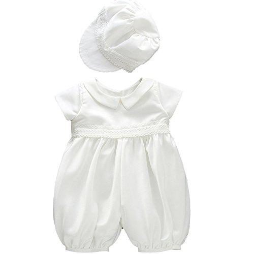 Fancy Luu Bebés Bautizo Ropa Para Niños Ocasiones Especiales Bautizo Para Niños (blanco, 6M(6-12 Meses))