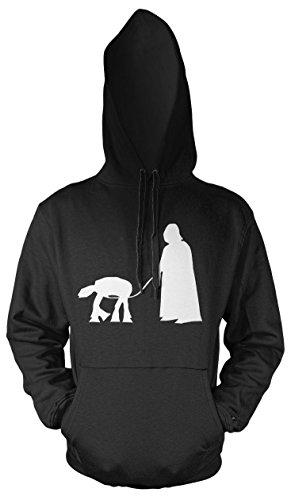 Darth Vader Haustier Männer und Herren Kapuzenpullover | Star Wars Vintage Empire Geschenk (S, ()
