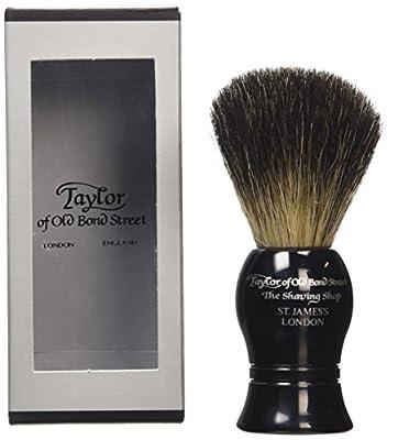 Taylor of Old Bond Street Pure Badger Medium Black Shaving Brush