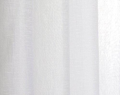 confronta il prezzo Tende trasparente con 8 OLLAO (1 pannello, 140 x 260) per soggiorno, camera e camera. 140_x_260_cm (Bianco). Modello Clara miglior prezzo