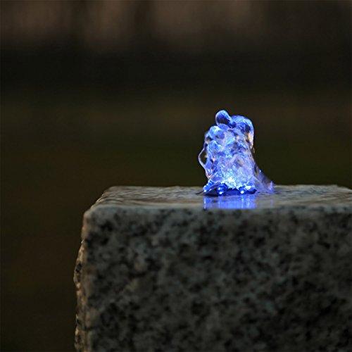 Springbrunnen Beleuchtung LED Ring blau Kranz Lichtkranz für Gartenbrunnen Brunnen Wasserspiel Quellstein Bachlauf Teich