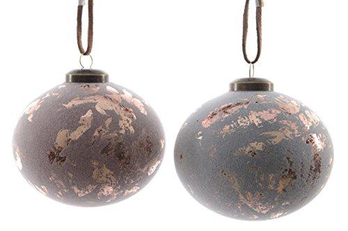 Glaskugel antik Weihnachtskugeln Christbaumkugeln 2er Set