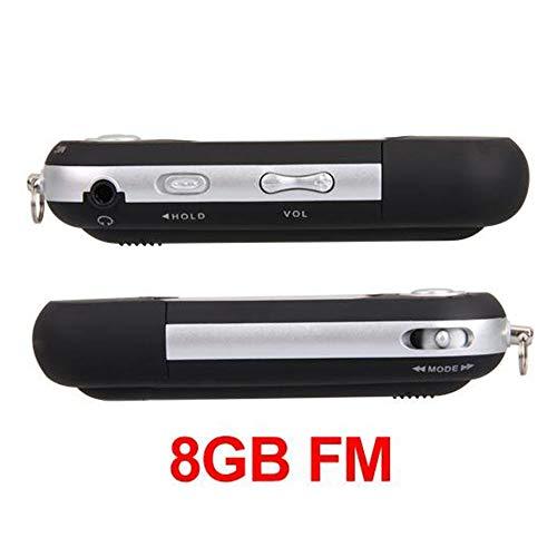 Easy provider lettore mp3 8gb fm radio registratore nero + auricolari