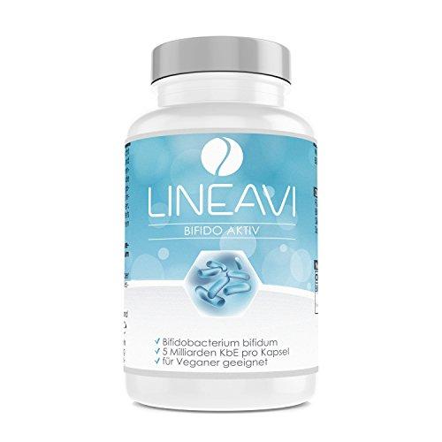 Bifido attivo LINEAVI | 5 miliardi di microrganismi attivi | contiene fermenti lattici del tipo Bifidobacterium bifidum (Bifidobatteri) | made in Germany | 90 capsule vegane (conf. scorta per 3 mesi)
