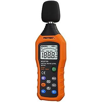 Sonomètre, Protmex MS6708 30-130db 30Hz-8kHz Niveau de pression acoustique numérique Nosie Meters Mesureur de niveau sonore Avec Sélection rapide / lente, Maintien de données, Rétroéclairage, Max / Min, 100 Groupes Stockage de données