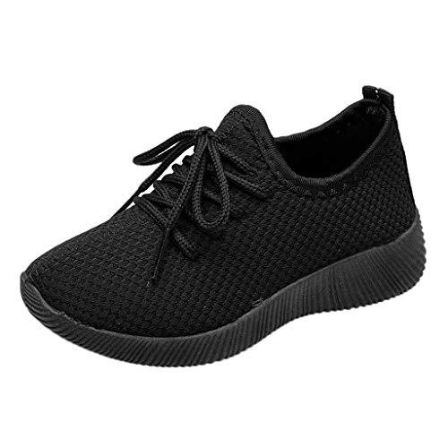 Baskets Enfants - Sneakers da corsa, unisex, motivo: Chaussures Respirant Route en Cours Filles Légère nero 32
