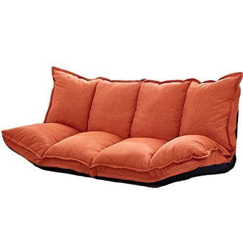 MAGO Faule Couch Folding einstellbare Liege Sofa Gaming Chair - für Meditation, Seminare, Lesen, Fernsehen oder Gaming (Farbe : Orange)