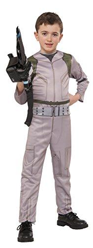 Rubie's Offizielles Ghostbusters-Kostüm für Jungen, Overall mit aufblasbarem Proton-Strahler,2016er-Design,Größe: S (Kindergröße)
