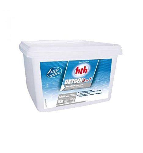 HTH - traitement oxygène actif - 3,2kgs (galets 200g)