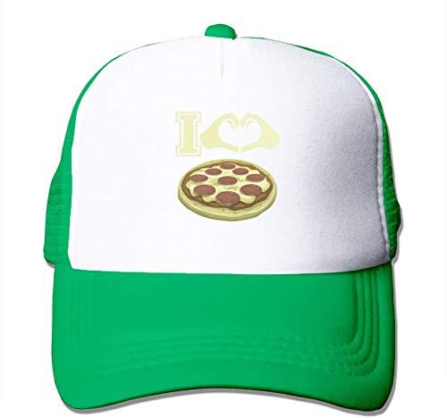Quakess Ich Liebe Pizza Baseball-Kappe justierbarer Hut für Männer Frauen