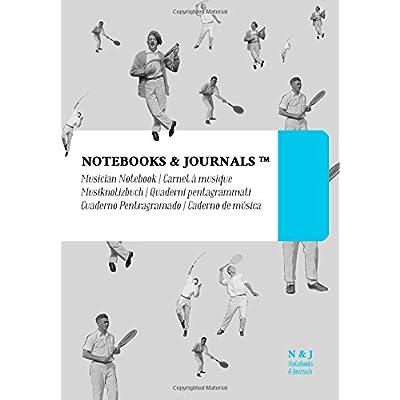 Quaderni Pentagrammati Notebooks & Journals, Tennis (Vintage Collection), Extra Large: Soft Cover (17.78 X 25.4 Cm)(Taccuino Appunti,taccuino Di Viaggio)
