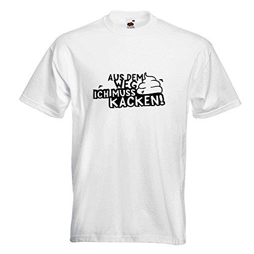 KIWISTAR - Aus dem Weg Muss kacken! Shit Klo Termin T-Shirt in 15 verschiedenen Farben - Herren Funshirt bedruckt Design Sprüche Spruch Motive Oberteil Baumwolle Print Größe S M L XL XXL