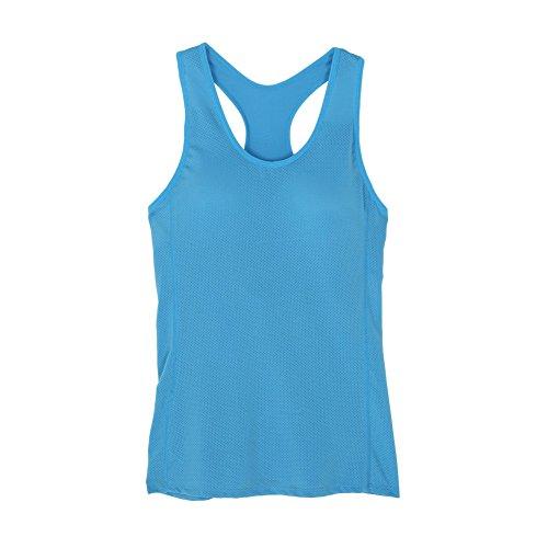 Brightup Femmes Yoga Sport Gilet sans manches Outdoor Fitness Gym Courir Top Bleu