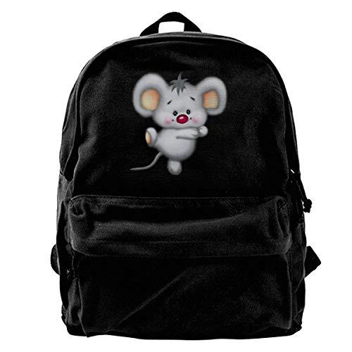 Rucksäcke, Daypacks,Taschen, Classic Canvas Backpack Dance Glowing Mouse Unique Print Style,Fits 14 Inch Laptop,Durable,Black - Beste Rucksack Sprayer
