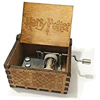 Harry Potter Ocho caja de tonos caja de música de mano de madera mejor regalo de madera
