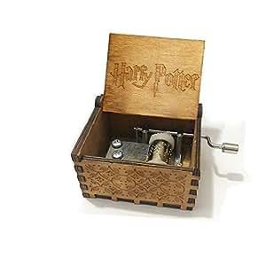 XIN-JI Classique de la Main Harry Potter à la Main boîte à Musique en Bois Main créative Artisanat en Bois Cadeaux Boîte à Musique