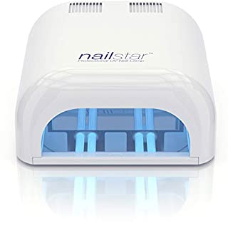 NailStar® 36 Watt Professional UV Nail Dryer Nail Lamp for Gel with 120 and 180 Second Timers + 4 x 9W Bulbs Included