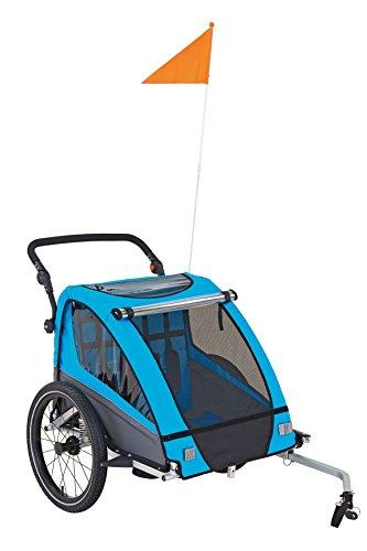 Prophete Transport Anhänger Gefedert mit 20 Zoll Speichen Laufrädern Kindertransportanhänger, Blau/Schwarz, M