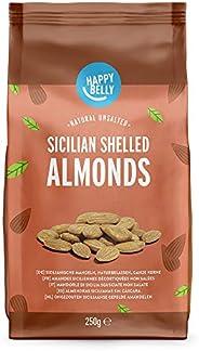 Amazon Brand - Happy Belly Sicilian Shelled Almonds 6x250g