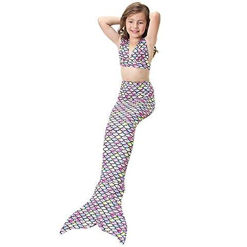 Costume Esprit Femme Wonder - Lonchee jolie fille sirène maillot de bain