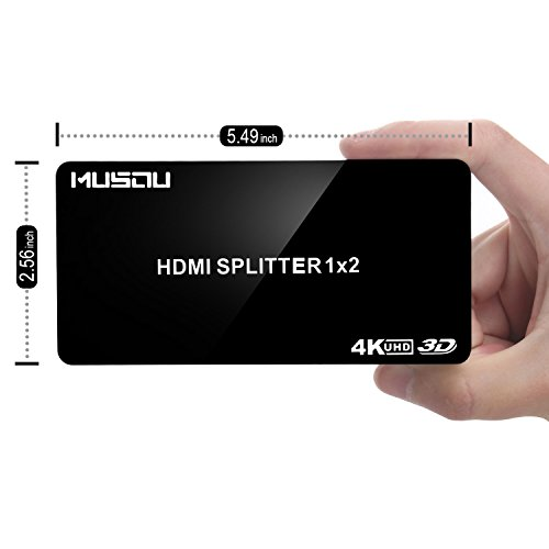 Musou HDMI Splitter 4K 1 auf 2 HDMI Verteiler 1 in 2 out Support 3D 1080P - High Hdmi-splitter Quality