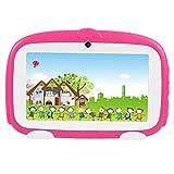 VBESTLIFE 7 Zoll Tablet PC,Dual Kamera WiFi Mini Learning Tablet,1G + 8 GB für Kinder Früherziehung,unterstüzt Android 4.4(Pink)