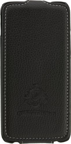 """Peter Jäckel COMMANDER 4.3"""" Libro Negro - Fundas para teléfonos móviles (Libro, HTC, One Mini, 10,9 cm (4.3""""), Negro)"""
