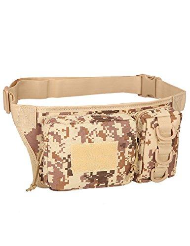 CUKKE Multipurpose Taktische Tasche Gürtel Taille Pack Tasche Military Taille Fanny Pack Telefon Tasche Gadget Geld Tasche Grün Tarnung 5