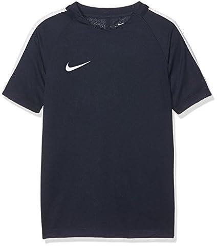 Nike et nK Dry sqd17SS T-shirt à manches courtes, Homme S Bleu (Obsidian / White / White)