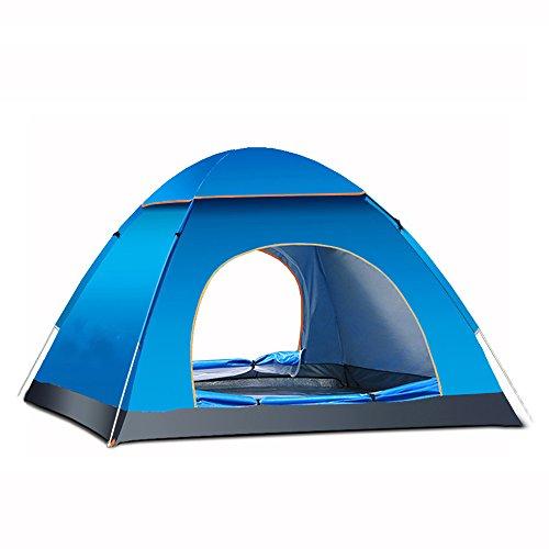 XLORDX Strandmuschel Strandzelt 3-4 Personen Automatische Instant Pop up Zelt mit Boden Sonnenschutz UV Schutz, Familie Tragbar Outdoor Beach Tent