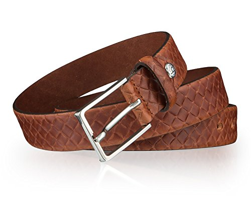 bugatti ceinture en cuir ceinture hommes marron Marron